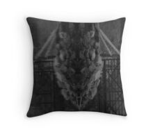 Water Dragon Throw Pillow
