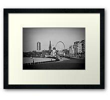 Duesseldorf, Germany, in b/w Framed Print