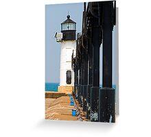 St. Joseph North Pier Outer Light, Michigan Greeting Card