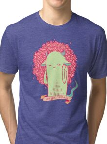 [bashful monster] Tri-blend T-Shirt