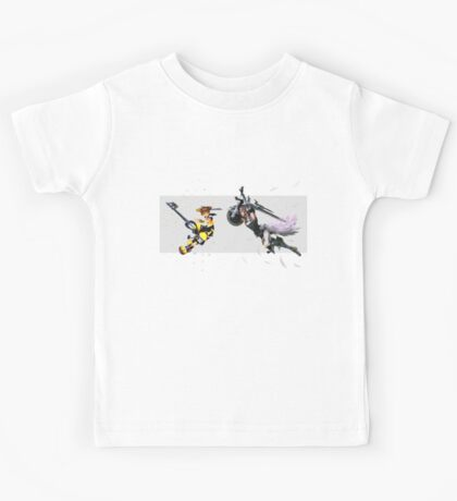 Kingdom Hearts & Final Fantasy crossover Kids Tee