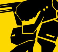 Bipedal Walking Tank X-ing Sticker