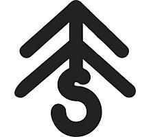 taetiseo - dear santa logo black Photographic Print