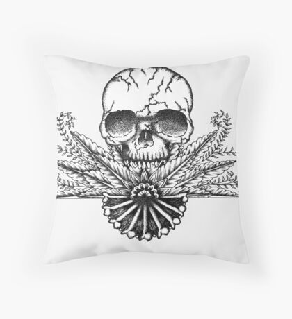 Death becomes him... Throw Pillow