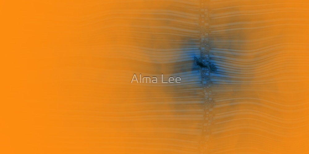 Study in Blue and Orange by Alma Lee