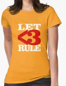 Metamodern Love - Let Love Rule Womens Fitted T-Shirt