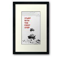The First Step  VRS2 Framed Print