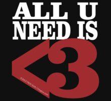Metamodern Love - All U Need is Love One Piece - Short Sleeve
