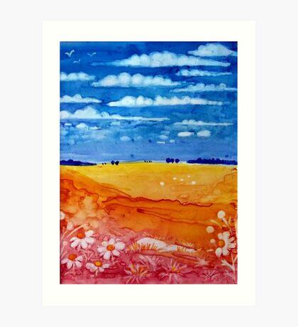 Sunburnt Country Art Print