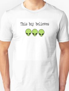 This Boy Believes in Aliens T-Shirt