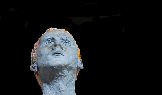 The Blue Self Portrait in Terra Cotta by heatherfriedman