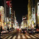 Ginza Crossing, Tokyo, Japan by LeMaxBleu