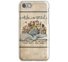 The World Is A Book iPhone Case/Skin
