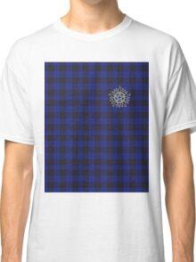Supernatural Anti-possession symbol on PLAID in BLUE Classic T-Shirt
