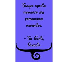 The Genie, Aladdin Quote Photographic Print