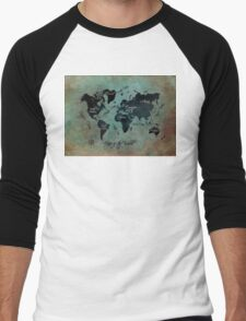 Map of the world  Men's Baseball ¾ T-Shirt