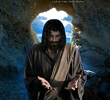 Jesus: I love you this much (iPhone/iPod Case) by Angelicus