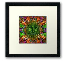 PAGAN GREEN MAN Framed Print