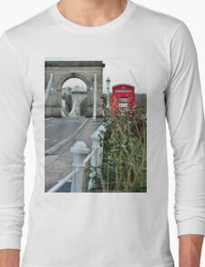 Telephone Box, Marlow, Bucks Long Sleeve T-Shirt