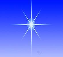 Blue Star iPhone case by KBritt