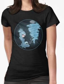 Intercosmic Christmas in Blue Womens Fitted T-Shirt