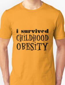 I Survived Childhood Obesity (Black) T-Shirt