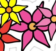 Cute and Colorful Blossoms Sticker