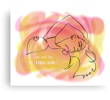 one line dream Canvas Print