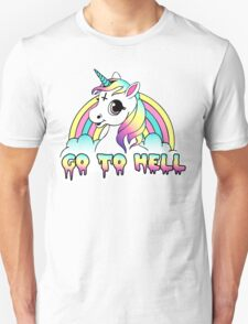 """Go To Hell"" Pastel Goth Unicorn  Unisex T-Shirt"