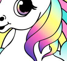 """Go To Hell"" Pastel Goth Unicorn  Sticker"