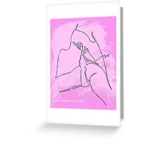 one line legs Greeting Card