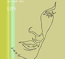 one line lips by jatujeep