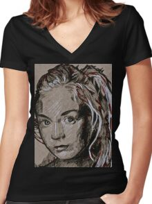 TWD Beth Women's Fitted V-Neck T-Shirt