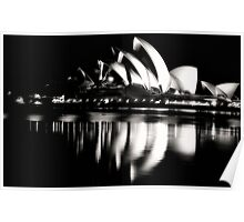 Black and White Rhapsody - Sydney Opera House - The HDR Experience Poster
