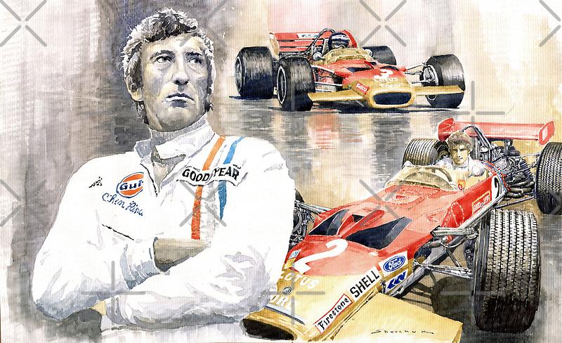 Jochen Rindt Golden Leaf Team Lotus Lotus 49b Lotus 49c by Yuriy Shevchuk