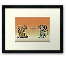 phonosaurs Framed Print