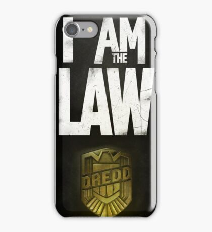 I Am the Law - Dredd iPhone Case/Skin