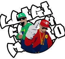Luigi and mario rappers by komrod