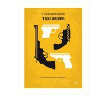 No087 My Taxi Driver minimal movie poster Art Print
