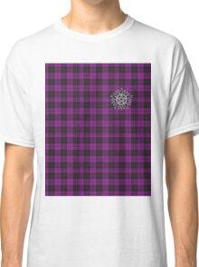 Supernatural Anti-possession symbol on PLAID in PURPLE Classic T-Shirt