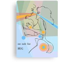 one line hug Canvas Print