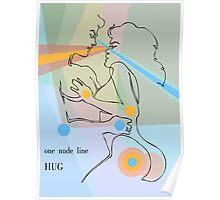 one line hug Poster