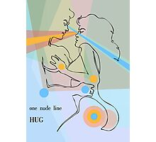 one line hug Photographic Print