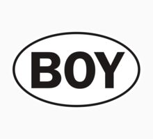 BOY - Oval Identity Sign by Ovals