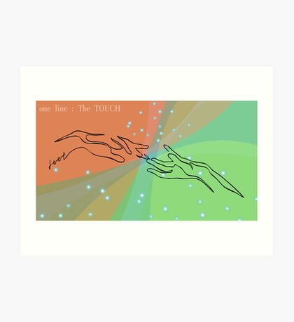 one line touch Art Print