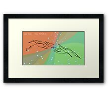 one line touch Framed Print