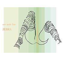 one line zebra Photographic Print