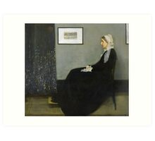 Portrait of the Artist's Mother [Whistler's Mother] 1871 Art Print
