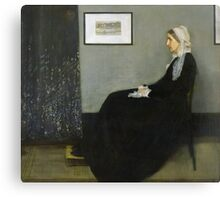 Portrait of the Artist's Mother [Whistler's Mother] 1871 Canvas Print