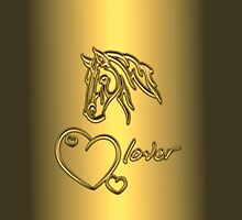 """I-Phone case """"Horselover"""" - golden edit/inverted by scatharis"""